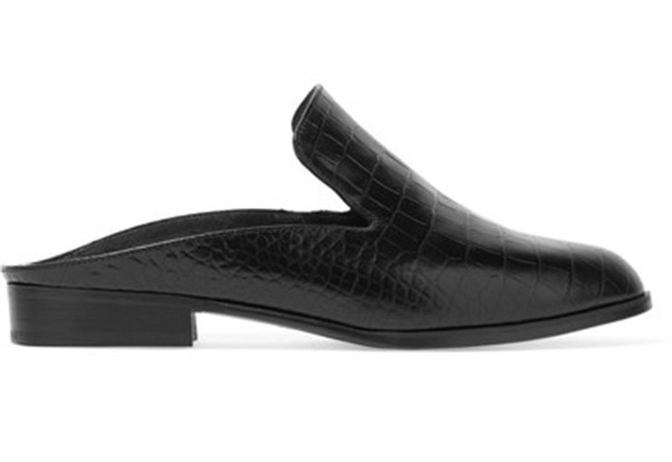 Alicek croc-effect leather slippers (25 787 руб.)