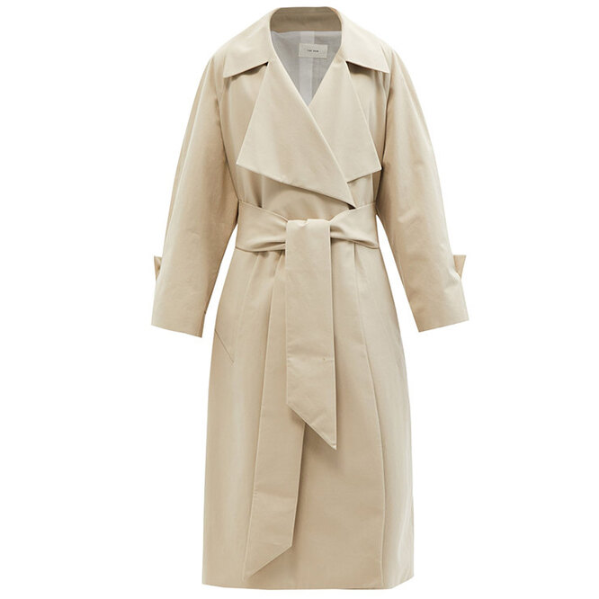 """<a href=""""https://www.matchesfashion.com/intl/products/The-Row-Au-cotton-canvas-trench-coat-1410111"""" target=""""_blank"""">THE ROW, 160&nbsp;755 руб.&nbsp;</a>"""