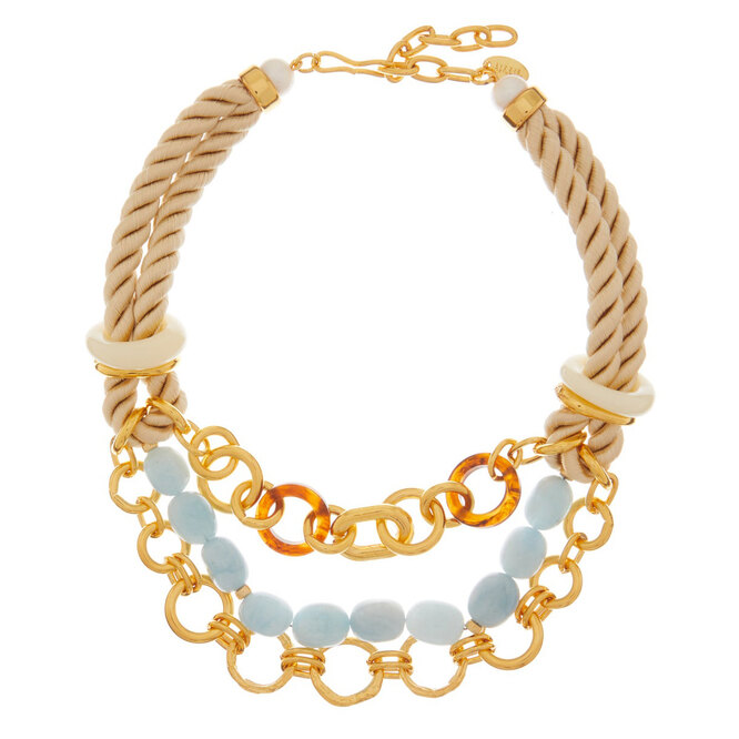 """<a href=""""https://www.matchesfashion.com/intl/products/Lizzie-Fortunato-Marbella-gold-plated-chain-and-rope-necklace-1327353"""" target=""""_blank"""">LIZZIE FORTUNATO, 21 737 руб.</a>"""