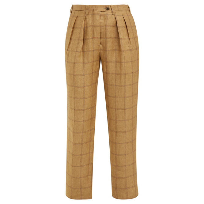 "Льняные&nbsp;брюки&nbsp;<a href=""https://www.matchesfashion.com/intl/products/Giuliva-Heritage-Collection-The-Husband-high-rise-linen-trousers-1258188"" target=""_blank"">GIULIVA HERITAGE COLLECTION</a>, 16 938 руб."