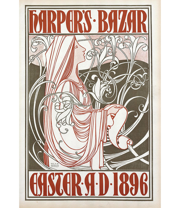 HARPER'S BAZAAR, МАРТ 1896. ИЛЛЮСТРАЦИЯ WILLIAM H. BROADLEY