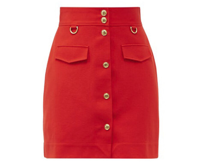 """ЮБКА&nbsp;<a href=""""https://www.matchesfashion.com/intl/products/Givenchy-High-rise-A-line-skirt-1390884"""" target=""""_blank"""">GIVENCHY</a>, 55 145 рублей"""