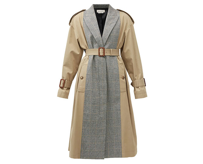 "<a href=""https://www.matchesfashion.com/intl/products/Alexander-McQueen-Checked-wool-blend-and-cotton-trench-coat-1392978"" target=""_blank"">ALEXANDER MCQUEEN</a>, 182 650 руб."
