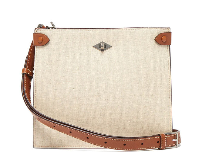 """<a href=""""https://www.matchesfashion.com/intl/products/M%C3%A9tier-Stowaway-leather-trimmed-canvas-shoulder-bag-1343777"""" target=""""_blank"""">METIER</a>, 66 515 руб."""