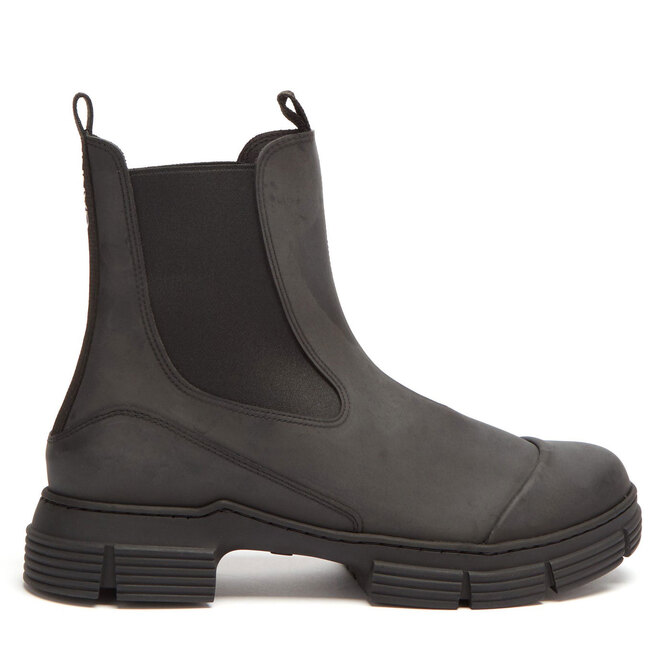 "<a href=""https://www.matchesfashion.com/intl/products/Ganni-Chunky-recycled-rubber-chelsea-boots-1354419"" target=""_blank"">GANNI,&nbsp;14&nbsp;855&nbsp;руб.&nbsp;</a>"