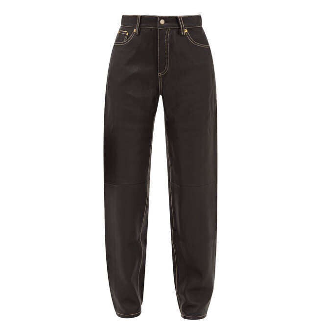 """<a href=""""https://www.matchesfashion.com/intl/products/Eytys-Benz-leather-straight-leg-trousers-1294844"""" target=""""_blank"""">EYTYS,&nbsp;29&nbsp;345 руб.&nbsp;</a>"""