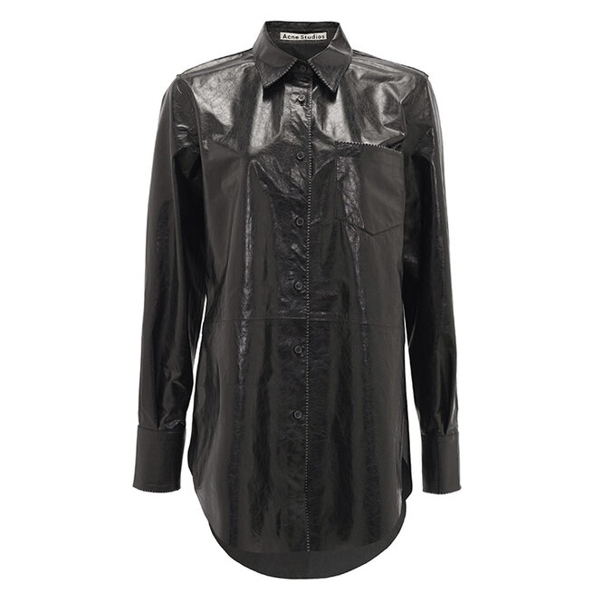 "РУБАШКА&nbsp;<a href=""https://www.matchesfashion.com/intl/products/Acne-Studios-Lophi-leather-shirt-1331454"" target=""_blank"">ACNE STUDIOS</a>, 141&nbsp;435 руб"