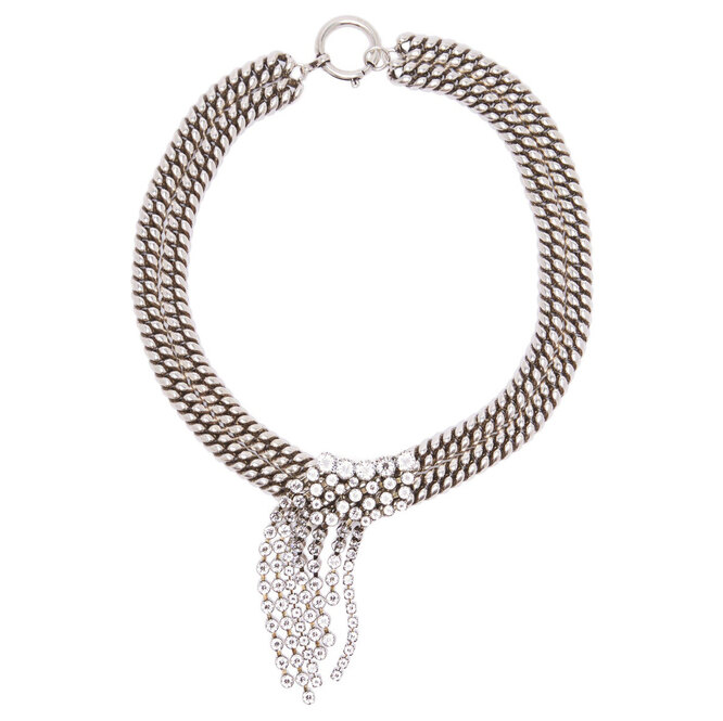 """<a href=""""https://www.matchesfashion.com/intl/products/Isabel-Marant-Crystal-embellished-chain-necklace-1242783"""" target=""""_blank"""">ISABEL MARANT, 37 645 руб.</a>"""