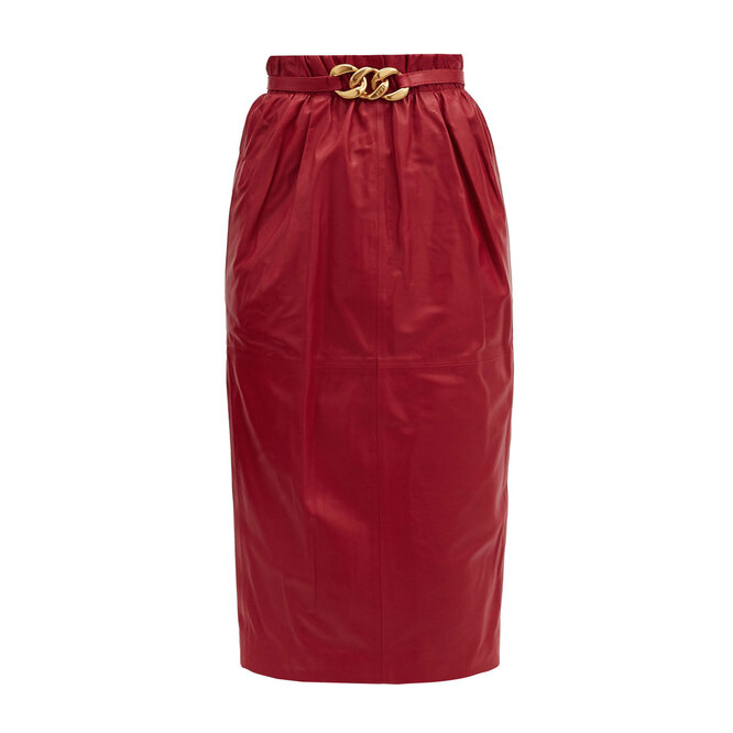 """<a href=""""https://www.matchesfashion.com/intl/products/No-21-Belted-high-rise-leather-pencil-skirt-1372726"""" target=""""_blank"""">NO. 21,&nbsp;87&nbsp;520&nbsp;руб.&nbsp;</a>"""